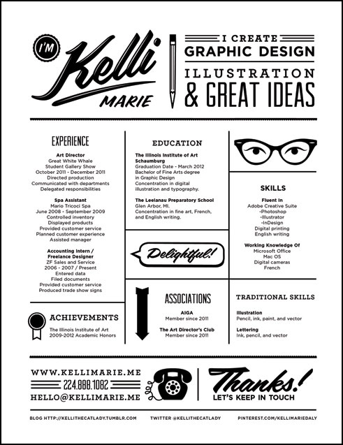 Excellent Examples Of Creative Resumes   The Chic Type Blog