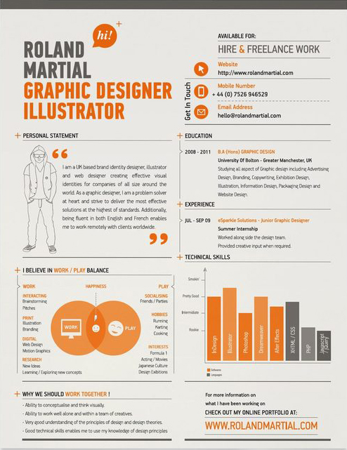 Best Creative Resumes Simple 10 Excellent Examples Of Creative Resumes   The Chic Type Blog