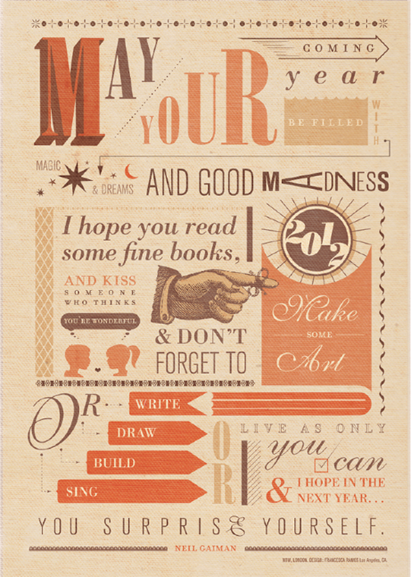 Neil Gaiman New Year Quotes: // The Chic Type Blog