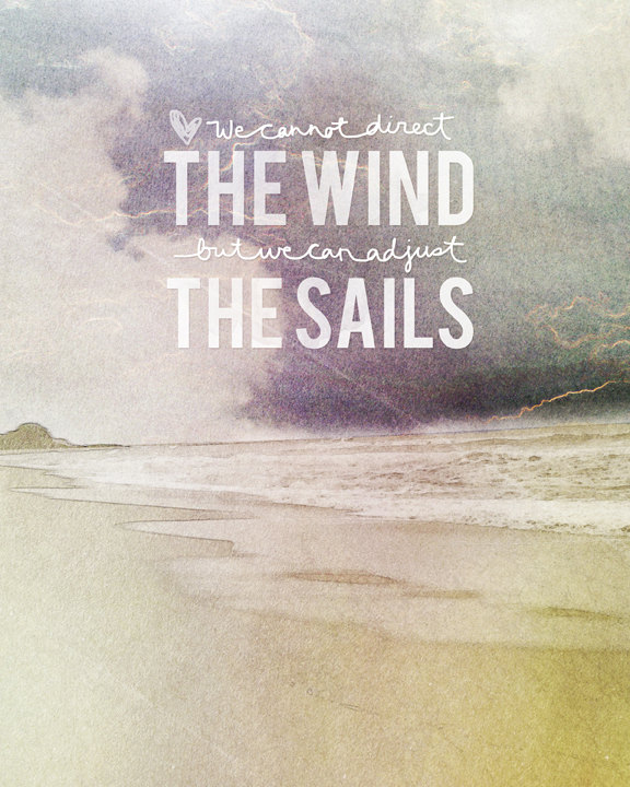 // We Cannot Direct The Wint, But We Can Adjust The Sails