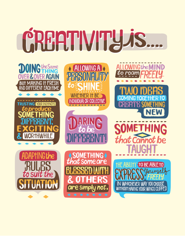 // Creativity Is...