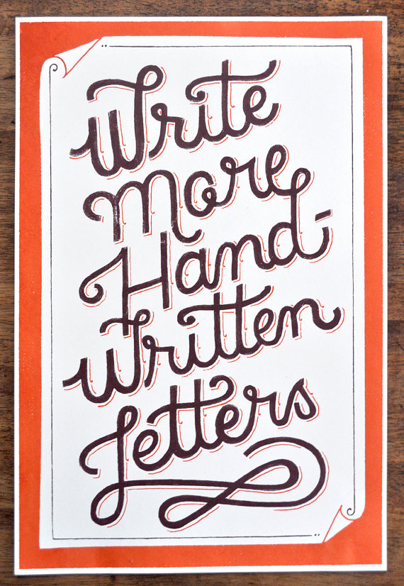 // Write More Handwritten Letters
