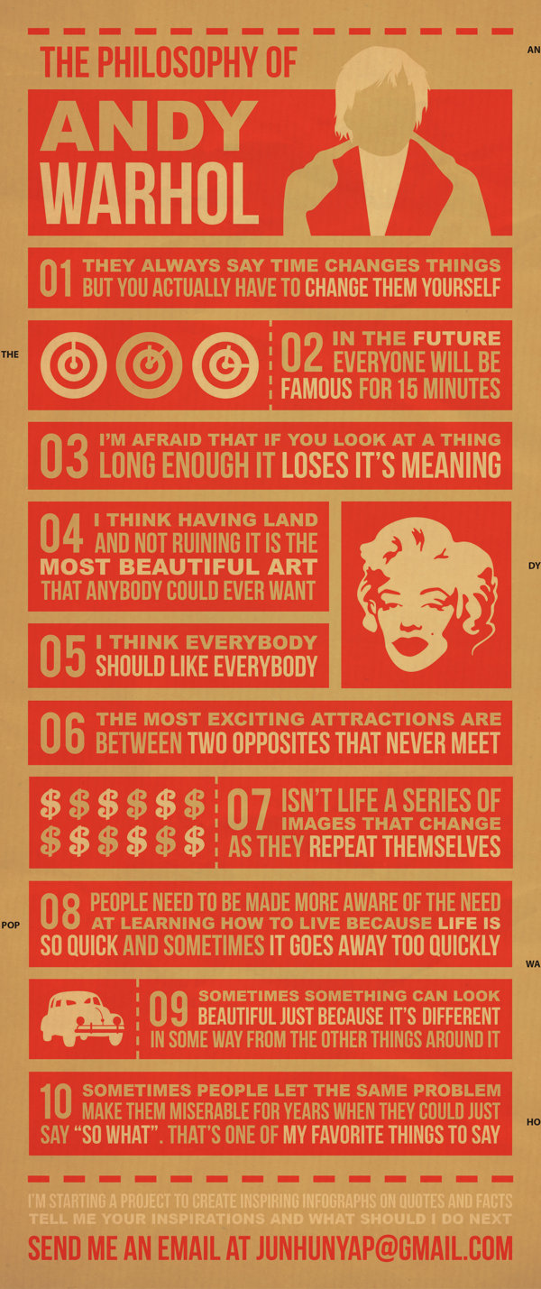 // Andy Warhol Infographic