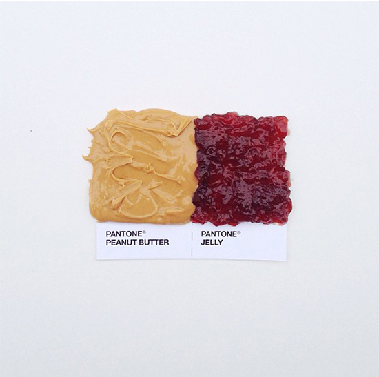 // Pantone - Peanut Butter + Jelly