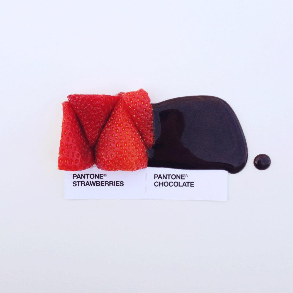 // Pantone - Strawberries & Chocolate