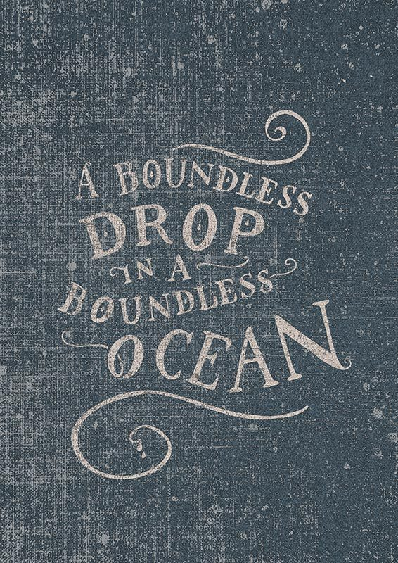 // A Boundless Drop In A Boundless Ocean