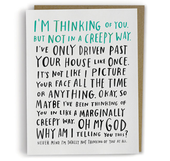 // Awkward Thinking Of You Card