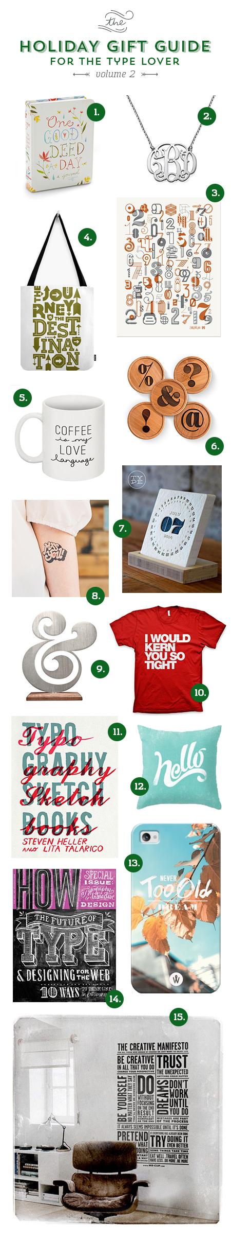 // Holiday Gift Guide For The Type Lover - Volume 2