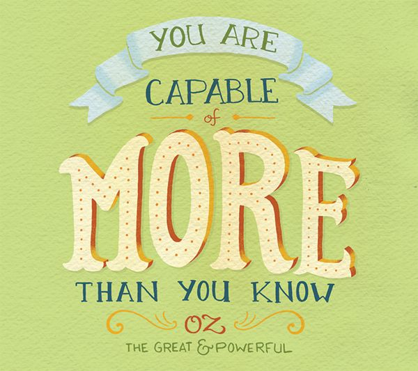 // You Are Capable Of More Than You Know