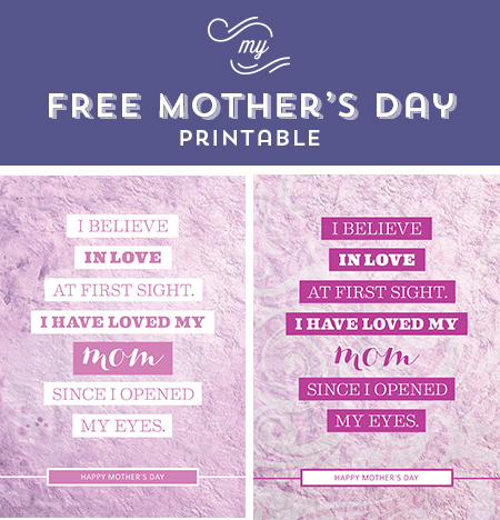 // Happy Mother's Day Printable - The Chic Type Blog