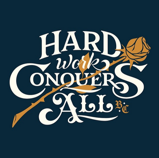 // Hard Work Conquers All
