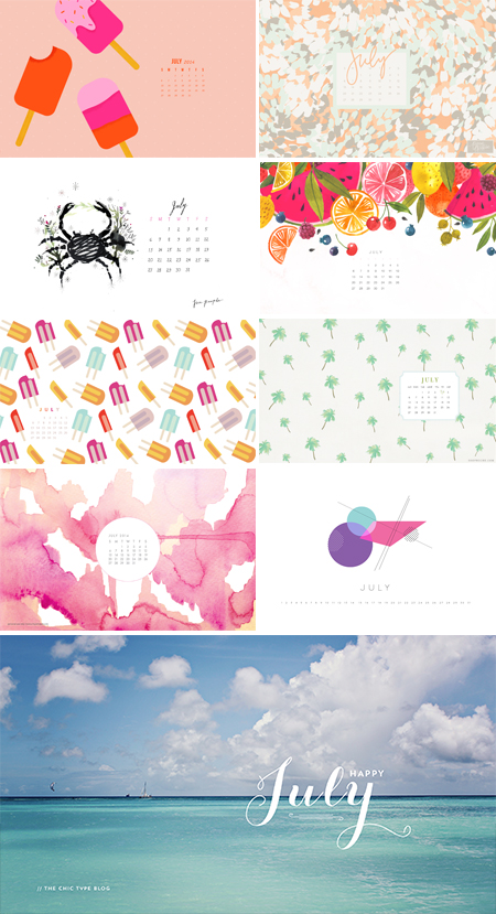 // 2014 - July Wallpapers Round-up