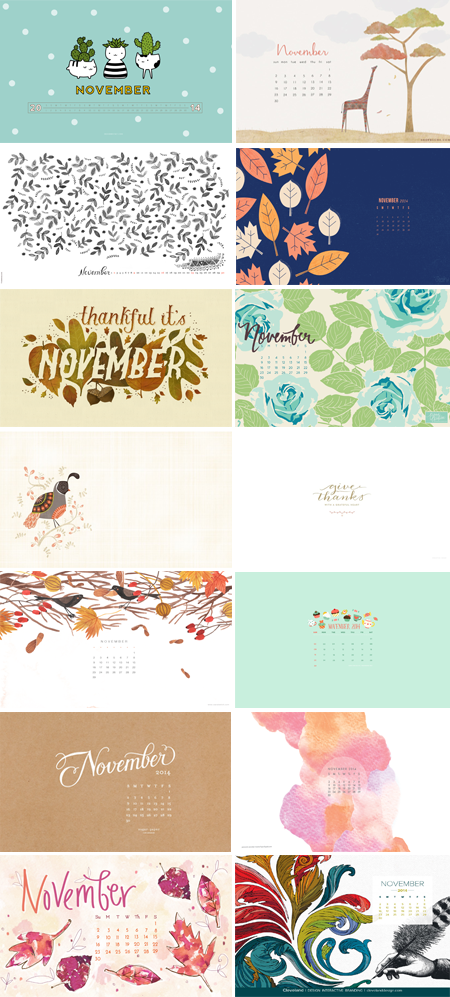 // November Wallpapers Round-up