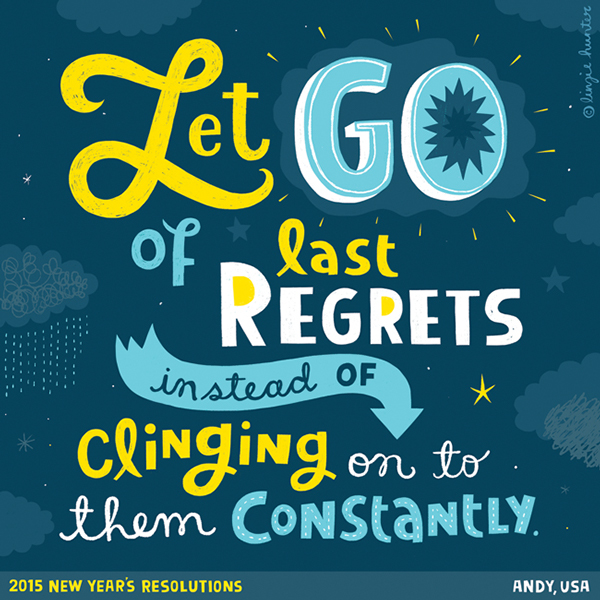 // Let Go of Last Regrets Instead of Clinging On To Them Constantly