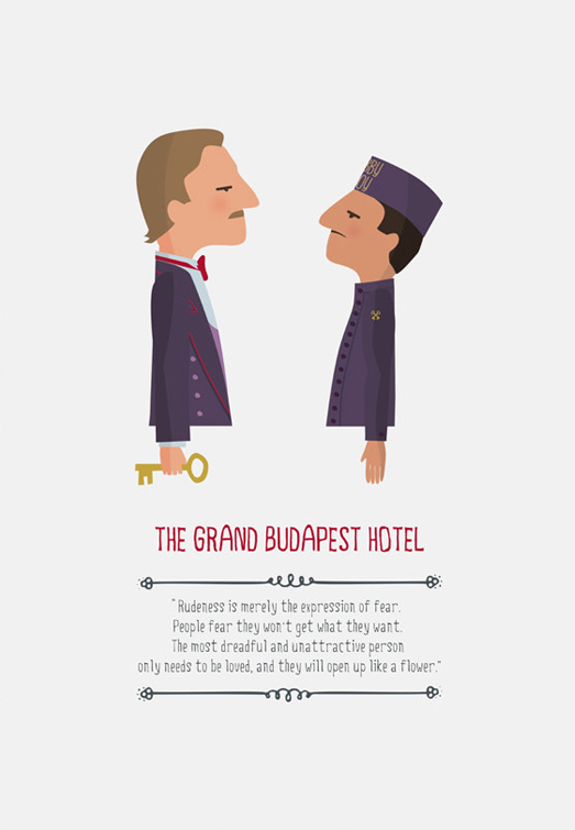 Grand Budapest Hotel Quotes Interesting Charming Character Illustrations From Tutti Confetti   The Chic
