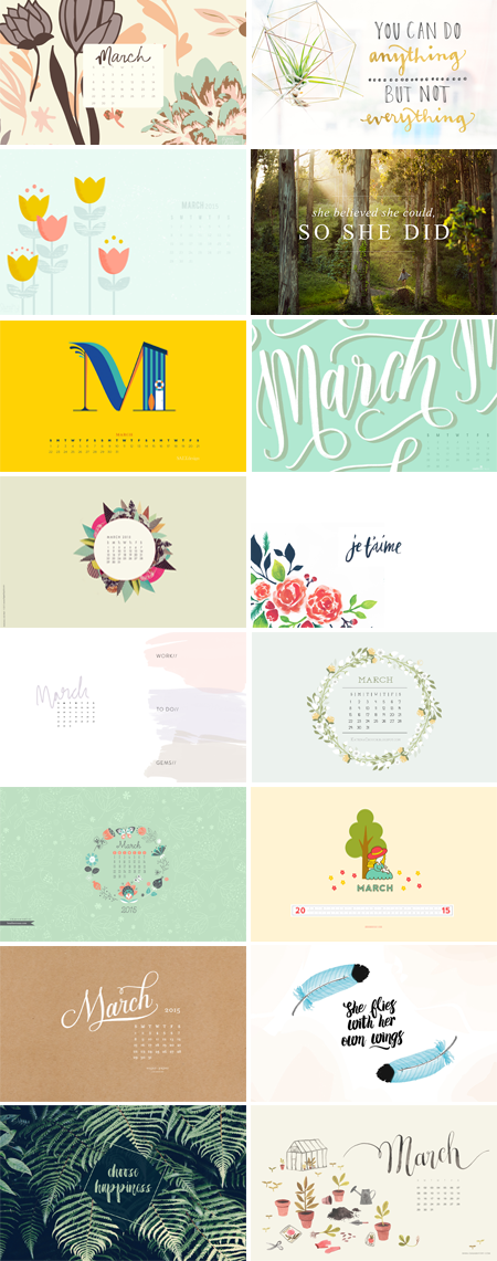 // March 2015 Wallpapers Round-up