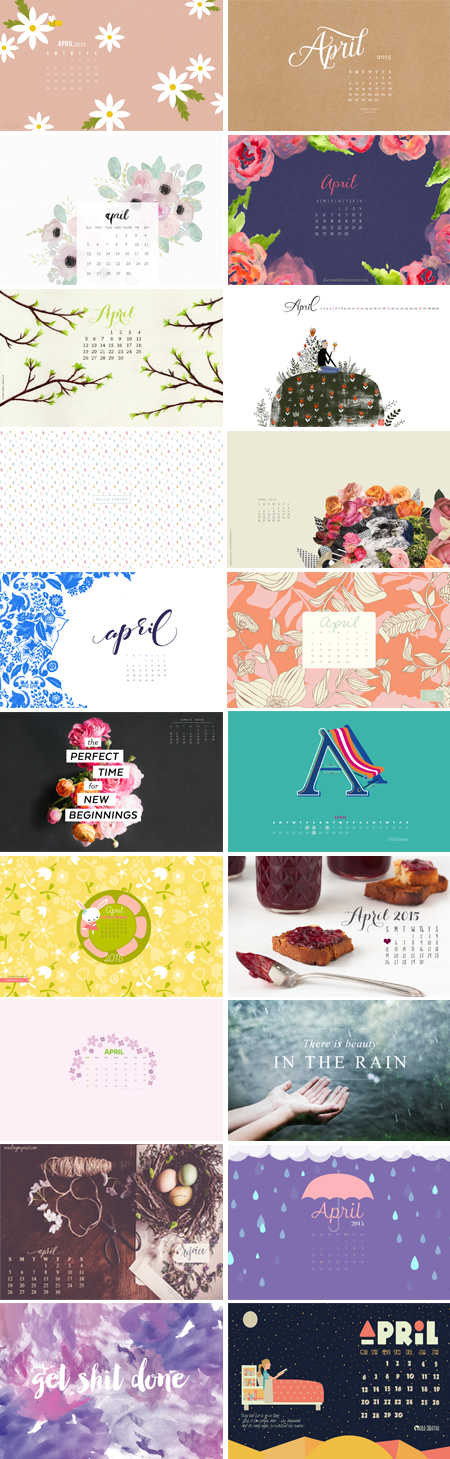 // April 2015 Wallpapers Round-up