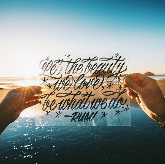 // Let The Beauty We Love Be What We Do