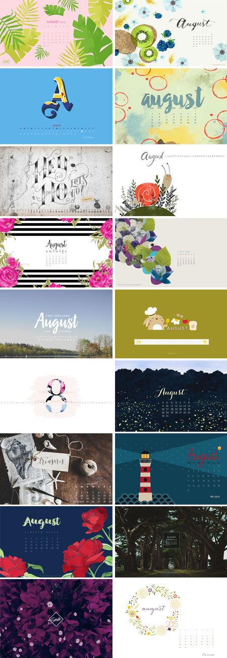 // August 2015 Wallpapers Round-up