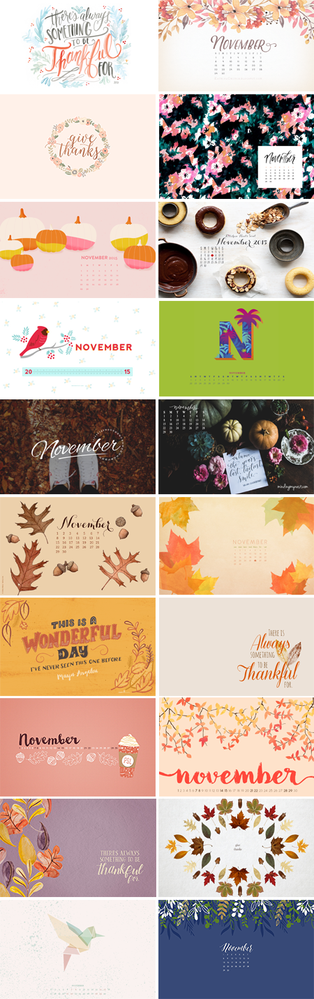 // November 2015 Wallpapers Round-up