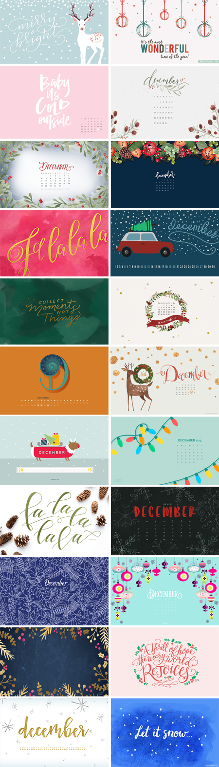 // December 2015 Wallpapers Round-up