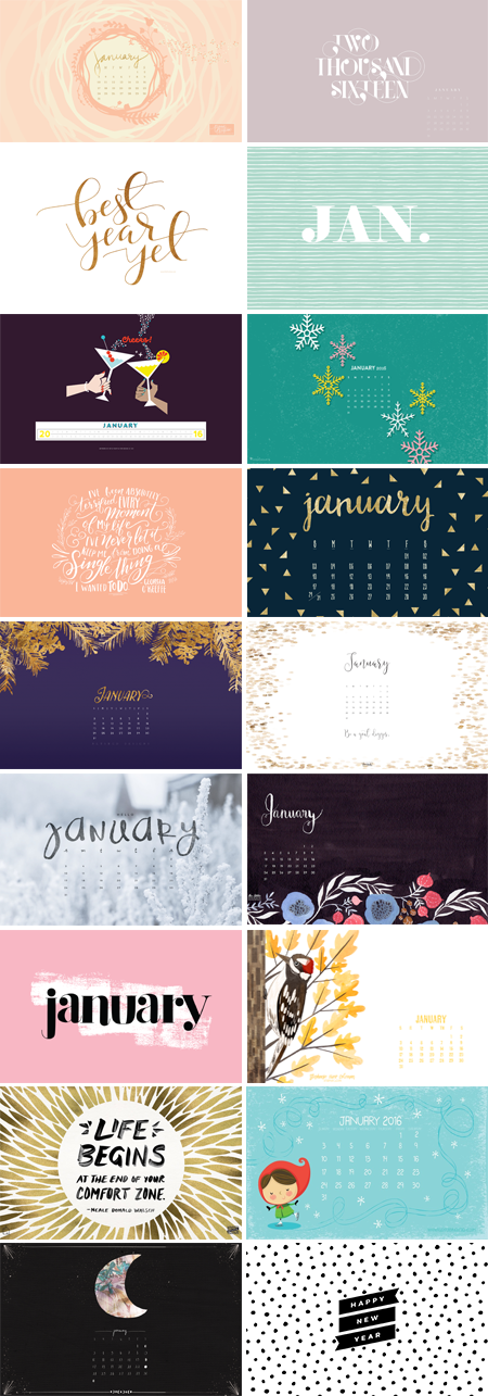 // January 2016 Wallpapers Round-up