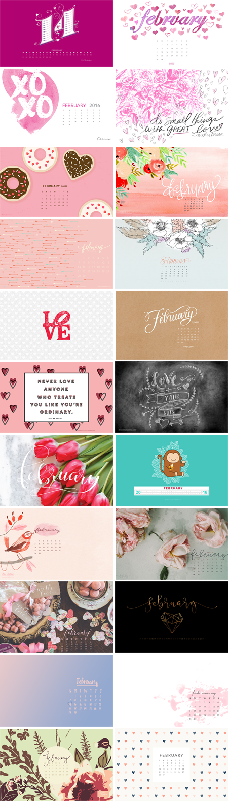 // February 2016 Wallpapers Round-up