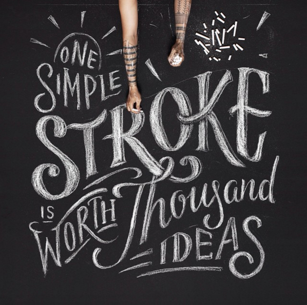 // One Simple Stroke is Worth Thousand Ideas