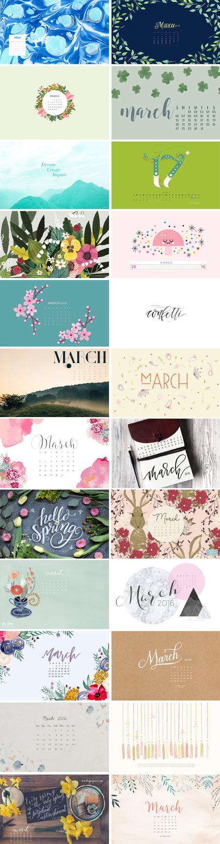 // March 2016 Wallpapers Round-up