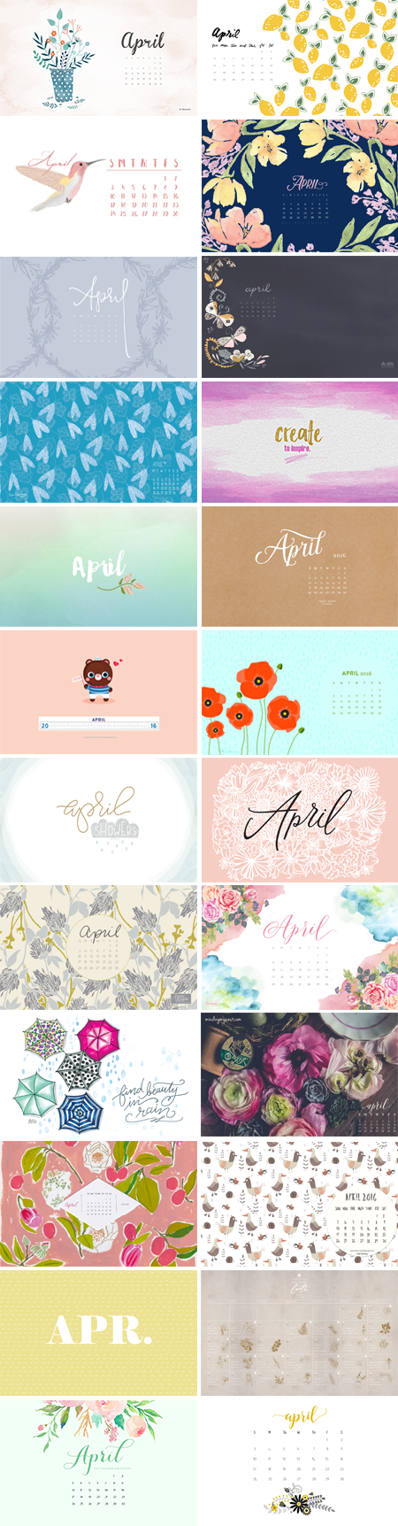 // April 2016 Wallpapers Round-up