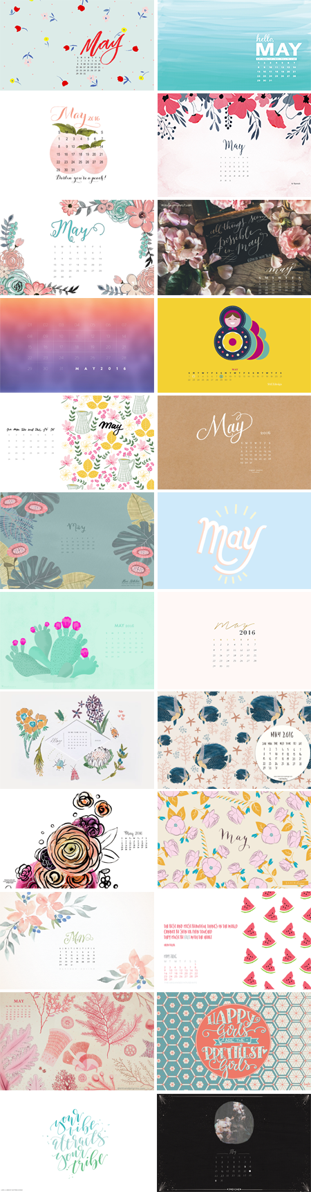 // May 2016 Wallpapers Round-up