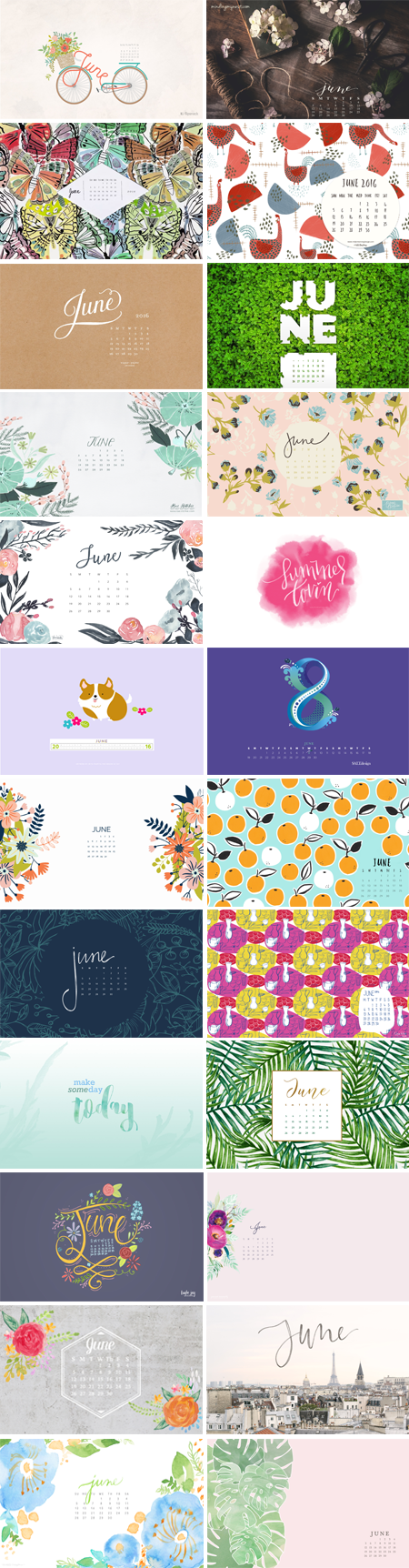 // June 2016 Wallpapers Round-up
