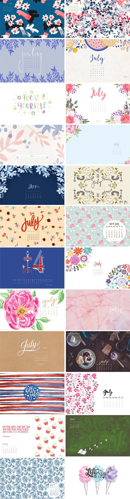 // July 2016 Wallpapers Round-up