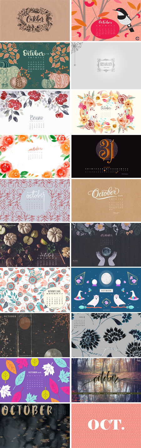// October 2016 Wallpapers Round-up