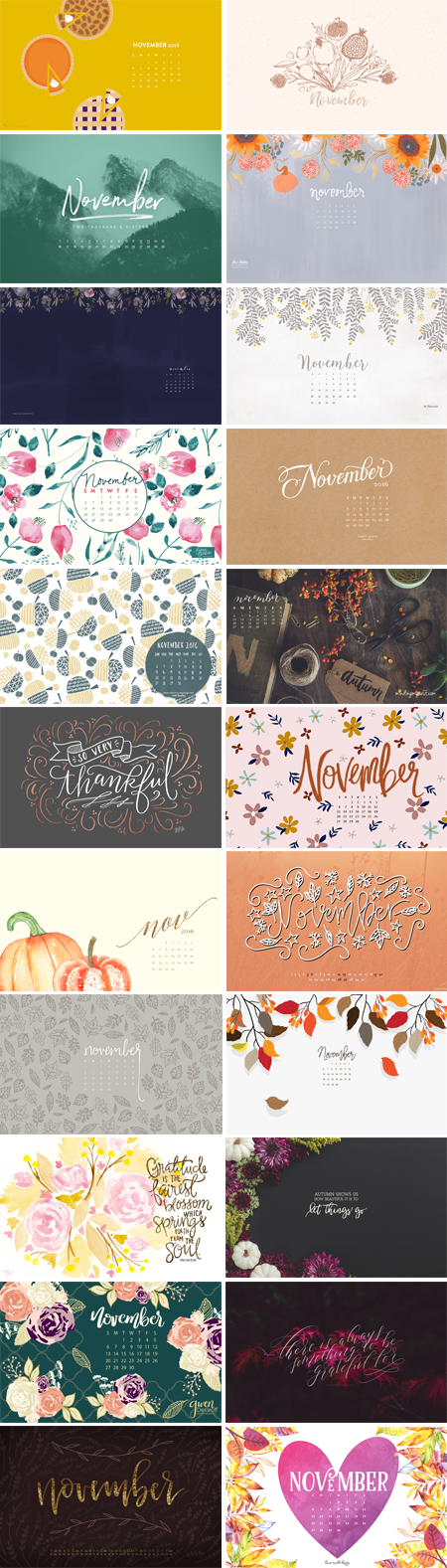 // November 2016 Wallpapers Round-up