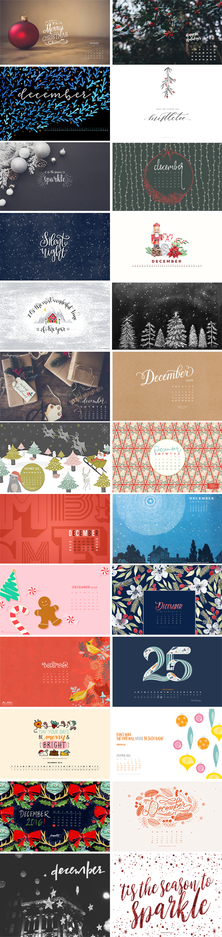 // December 2016 Wallpapers Round-up